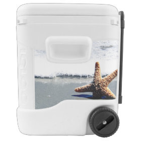 Starfish in the Surf Igloo Roller Cooler