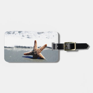 Starfish in the Surf Luggage Tag
