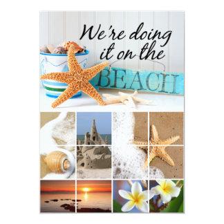 Starfish Informal Beach Wedding 5x7 Paper Invitation Card