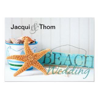 Starfish Informal Beach Wedding Card