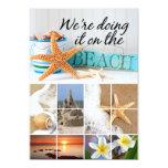 "Starfish Informal Beach Wedding 5"" X 7"" Invitation Card"