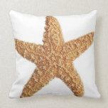 Starfish isolated on white throw pillow