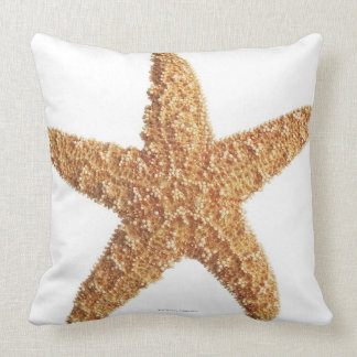 Starfish isolated on white throw pillow