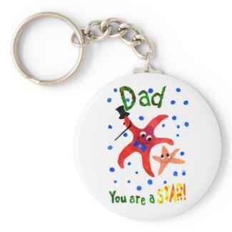 Starfish Keychain keychain