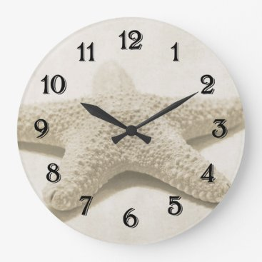Beach Themed Starfish Large Clock