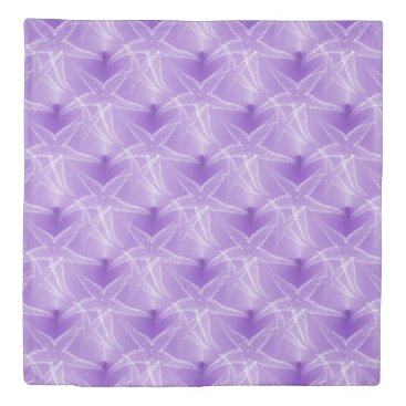 Beach Themed Starfish Lavender Purple Beach Duvet Cover