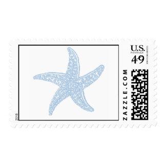 Starfish - light ble postage stamp
