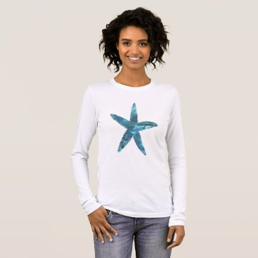 Beach Themed Starfish Long Sleeve T-Shirt