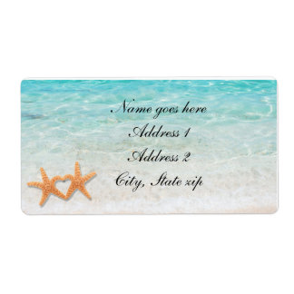 Starfish Love Beach Ocean & Sand Wedding Labels