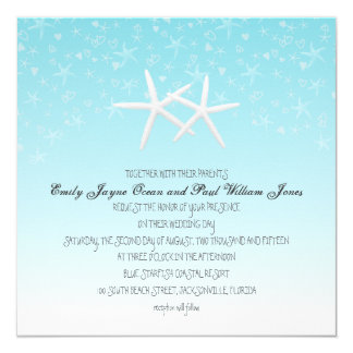 Starfish Love Cute Confetti Wedding Card