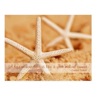 Starfish Love Proverb Postcard