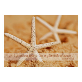 Starfish Love Proverb Poster
