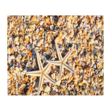 Beach Themed Starfish Lover Metal Print