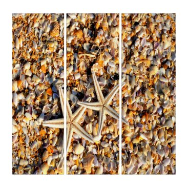 Beach Themed Starfish Lover Triptych