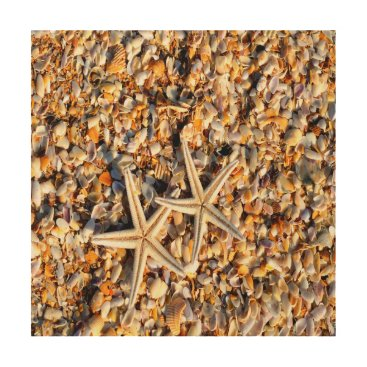 Beach Themed Starfish Lover Wood Print