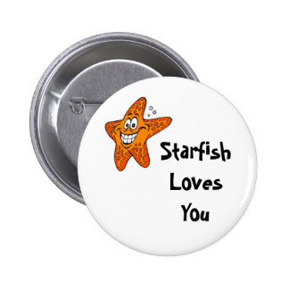 Starfish Loves You Pinback Button