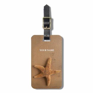 Beach Themed Starfish luggage tag