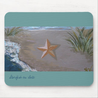 Starfish Mousepad, acqua; RhubarbStreet Mouse Pad