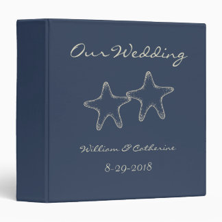 Starfish Nautical Beach Wedding Album Binder Gift