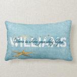 Starfish Nautical Name Throw Pillow