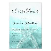 Starfish nautical rehearsal dinner invitations