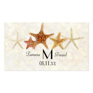 Starfish Nautilus Scallop Sea Shell Modern Pattern Business Cards