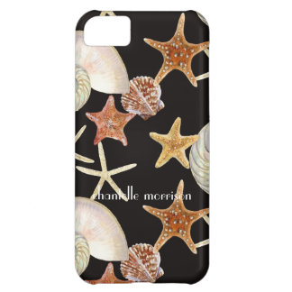 Starfish Nautilus Scallop Sea Shell Modern Pattern Case For iPhone 5C