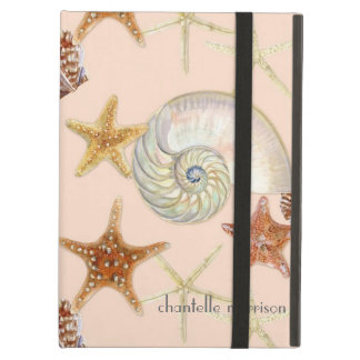 Starfish Nautilus Scallop Sea Shell Modern Pattern Cover For iPad Air