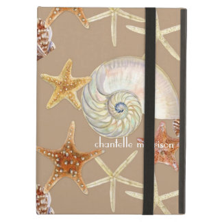 Starfish Nautilus Scallop Sea Shell Modern Pattern iPad Air Cover