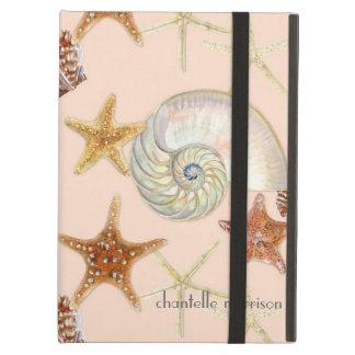 Starfish Nautilus Scallop Sea Shell Modern Pattern iPad Case