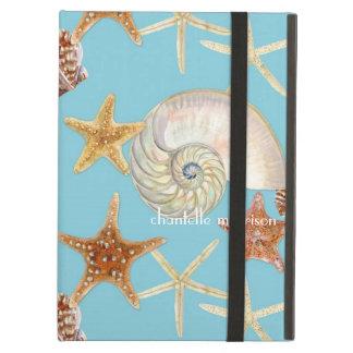 Starfish Nautilus Scallop Sea Shell Modern Pattern iPad Covers