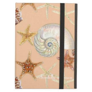 Starfish Nautilus Scallop Sea Shell Modern Pattern iPad Cases