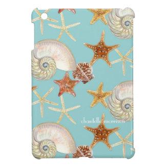 Starfish Nautilus Scallop Sea Shell Modern Pattern Cover For The iPad Mini