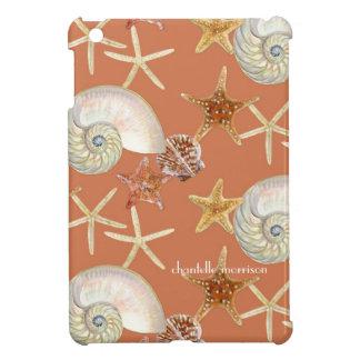 Starfish Nautilus Scallop Sea Shell Modern Pattern Case For The iPad Mini