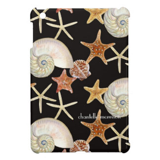 Starfish Nautilus Scallop Sea Shell Modern Pattern iPad Mini Cases