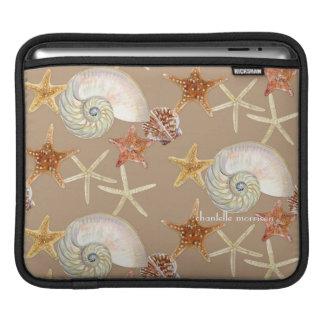 Starfish Nautilus Scallop Sea Shell Modern Pattern Sleeves For iPads