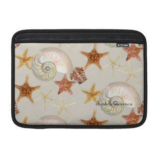Starfish Nautilus Scallop Sea Shell Modern Pattern Sleeves For MacBook Air