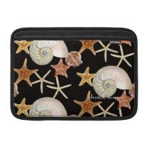Starfish Nautilus Scallop Sea Shell Modern Pattern MacBook Air Sleeve