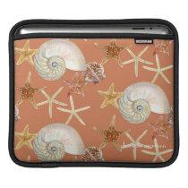Starfish Nautilus Scallop Sea Shell Modern Pattern Sleeve For iPads
