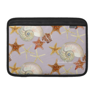 Starfish Nautilus Scallop Sea Shell Modern Pattern Sleeve For MacBook Air