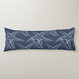 Starfish Navy Blue Beach Body Pillow