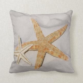 Starfish Netting Beach Throw Pillow