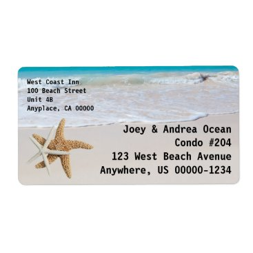 Professional Business Starfish Ocean Custom Shipping Label