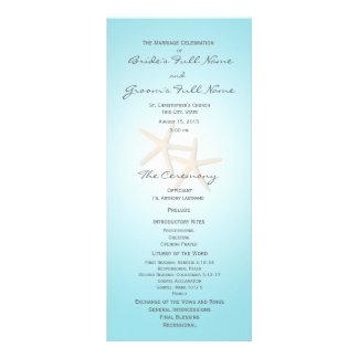 Starfish Ocean Dreams Wedding Program Customized Rack Card