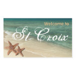Starfish Ocean Gift tag :: Welcome to St Croix Business Card Template