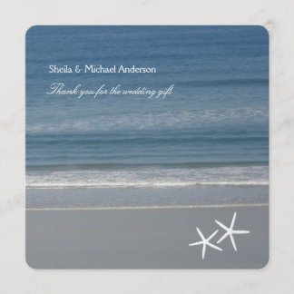 Starfish Ocean Thank You Cards