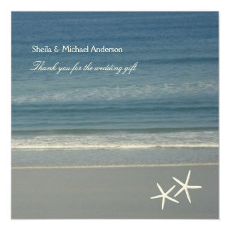 "Starfish Ocean Thank You Cards 5.25"" Square Invitation Card"