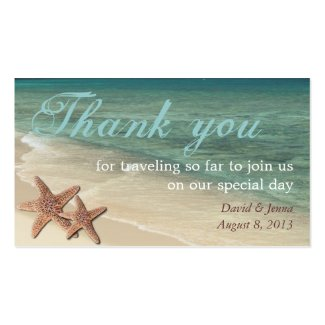Starfish Ocean Thank You Tag Double-Sided Standard Business Cards (Pack Of 100)