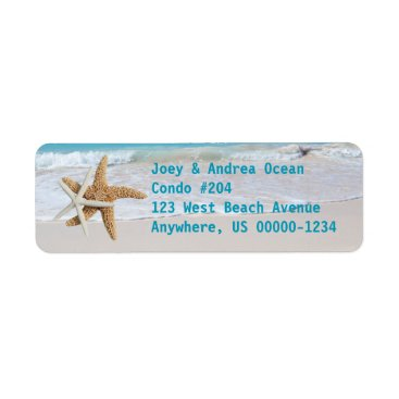 holiday_store Starfish Ocean Water Holiday Return Address Labels