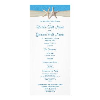 Starfish Ocean Wave Rustic Wedding Program